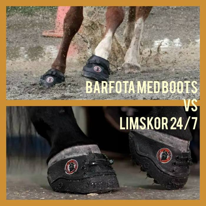 barfota vs limskor